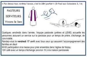 Pasteurs - serviteurs : vivons le lien @ maison paroissiale NOZAY