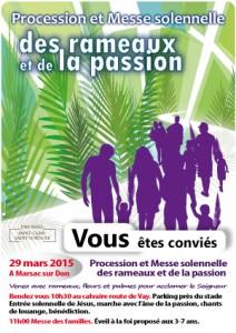 Messe des Rameaux @ MARSAC SUR DON
