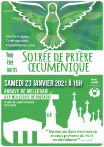 Prière oecuménique 2021 @ ABBAYE DE MELLERAY