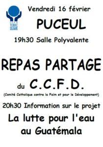 Repas partage CCFD @ salle polyvalente PUCEUL