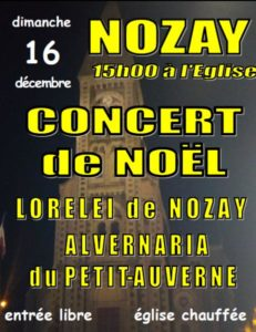 Concert de la chorale Loreleï @ EGLISE NOZAY