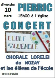 Concert de la chorale Loreleï @ EGLISE PIERRIC