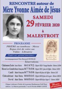 A LA RENCONTRE DE MERE YVONNE AIMÉE DE JESUS @ MALESTROIT (56)