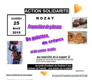 Marché de la solidarité @ CENTRE VILLE NOZAY ET SUPER U
