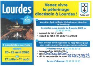 Pèlerinage diocésain à Lourdes avec l'hospitalité nantaise @ sanctuaire de Lourdes