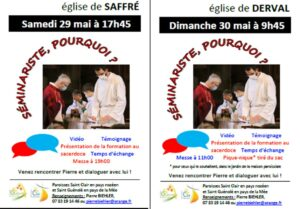 Rencontre avec Pierre, séminariste @ SAFFRÉ ET DERVAL