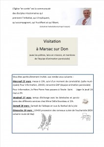 PROGRAMME VISITATION MARSAC