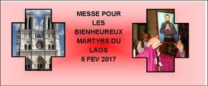 MESSE POUR LES BIENHEUREUX MARTYRS DU LAOS @ NOTRE DAME DE PARIS