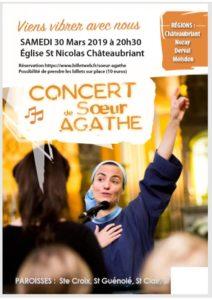 Concert Soeur Agathe @ EGLISE ST NICOLAS CHATEAUBRIANT