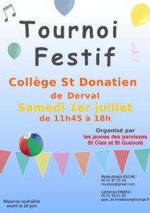 Tournoi festif @ collège St Donatien DERVAL