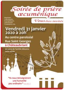 Veillée oecuménique 2020 @ CENTRE PAROISSIAL CHATEAUBRIANT