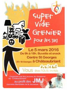 VIDE GRENIER POUR LES JMJ @ CENTRE ST GEORGES CHATEAUBRIANT