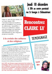 Rencontrez Claire Ly @ centre paroissial | Châteaubriant | Pays de la Loire | France