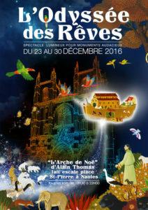 """""""L'ODYSSÉE DES RÊVES"""" @ FACADE CATHEDRALE NANTES"""